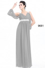 Evening dresses Grey color