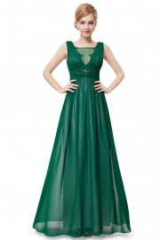 Evening dresses Green color